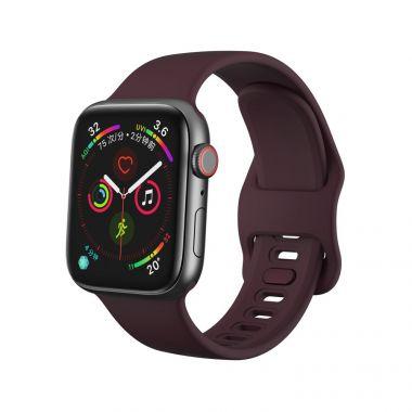 Tech-Protect Náhradní gumový řemínek pro Apple Watch (42/44MM), Vínová