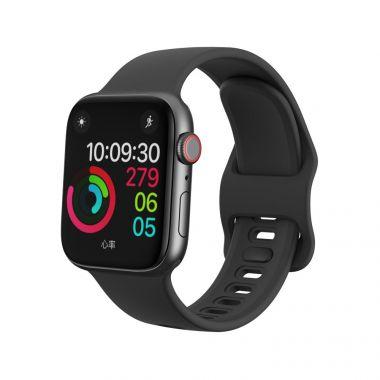 Tech-Protect Náhradní gumový řemínek ICONBAND pro Apple Watch 42/44mm, Černý