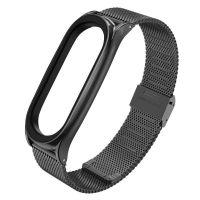 Tech-protect Náhradní náramek Milánský tah pro Xiaomi Mi Band 5/6 - kovový jemný, černý