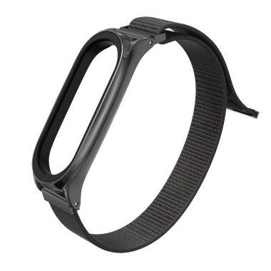 Náhradní náramek Xiaomi Mi Band 5/6 - nylonový, černý