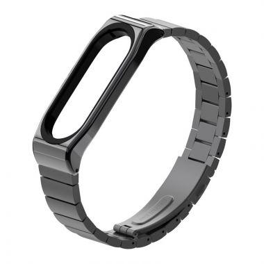 Náhradní náramek Xiaomi Mi Band 5/6 - Steelband Černý