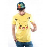 Pánské tričko POKÉMON Pikachu, žluté, velikost vel. M (Good Loot)
