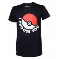 Pokémon I choose you, pánské tričko, velikost L, černá (GOOD LOOT)