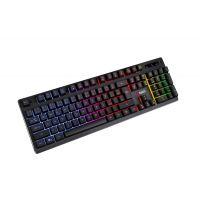 Polomechanická klávesnice C-TECH Iris GKB-08 CZ, duhové podsvícení (PC)