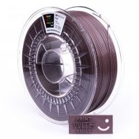 Print With Smile tisková struna (filament), PLA, 1, 75 mm, Chocolade Shine, 1kg