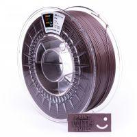 Print With Smile tisková struna (filament), PLA, 1, 75 mm, Chocolade Shine, 500g
