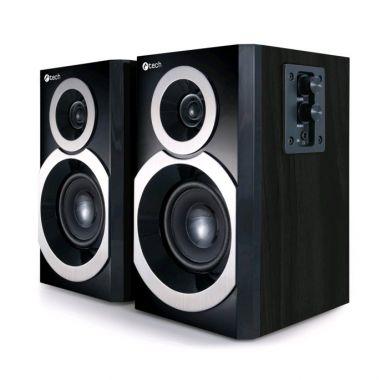 Reproduktory C-TECH SPK-310B, 2.0, černé, dřevěné (PC)