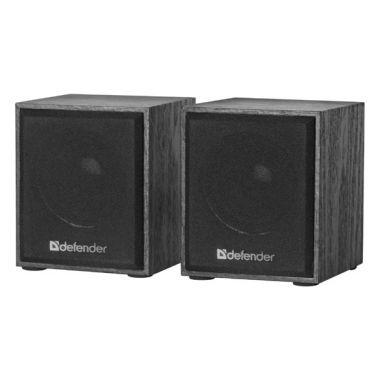Reproduktory Defender SPK 230, 2.0 Speaker system, 2x2W, černé, regulace hlasitosti, dřevěné (PC)