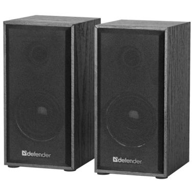 Reproduktory Defender SPK 240, 2.0 Speaker system, 2x3W, černé, regulace hlasitosti, dřevěné (PC)
