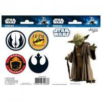 Samolepky Star Wars -  Yoda/Symbols
