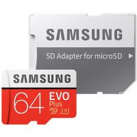 Samsung Micro SDXC EVO Plus 64GB UHS-I U1 + SD adaptér (MB-MC64HA/EU)