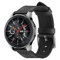 Spigen Retro Fit Kožený řemínek pro Samsung Galaxy Watch 46mm, černý