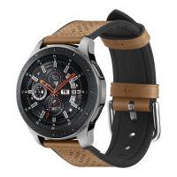Spigen Retro Fit Kožený řemínek pro Samsung Galaxy Watch 46mm, hnědý