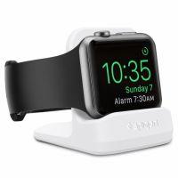 Spigen S350 Stojánek pro dobíjení pro Apple Watch, bílá