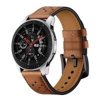 Tech-Protect Kožený řemínek pro Samsung Galaxy Watch 46mm, hnědý