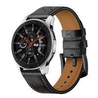 Tech-Protect Leather Řemínek pro Samsung Galaxy Watch 46mm, Black