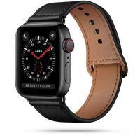Tech-protect řemínek kožený pro Apple Watch 42/44mm, černý
