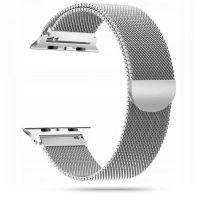 Tech-protect řemínek Milánský tah pro Apple Watch  42/44mm, stříbrný