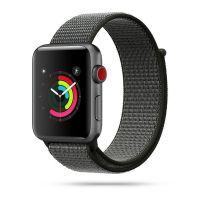 Tech-protect řemínek Nylon pro Apple Watch 42/44mm, tmavě olivová
