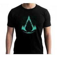 Tričko Assassins Creed: Valhalla - Crest Grid Vel. XL