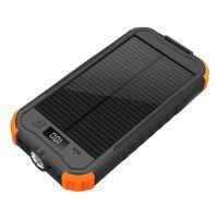 VIKING Solární outdoorová powerbanka Charlie II 12000mAh, Oranžová, CHAR12O