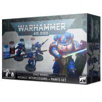 Warhammer 40,000: Space Marines: Assault Intercessors + Paints Set