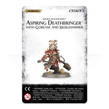 Warhammer: Age of Sigmar - Khorne Bloodbound: Aspiring Deathbringer with Goreaxe and Skullhammer